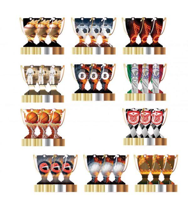 Medaglia a Coppa in Plexiglas 29823